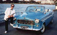 John Wanner and his Custom FE Convertable at St Kilda